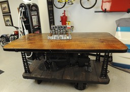 Custom Built Portable Industrial Bar with Flathead V-8 Engine and Offenhauser 3 Carb Manifold
