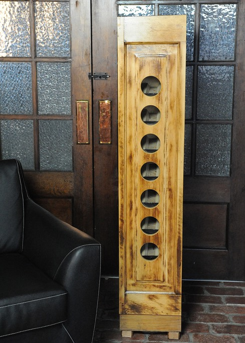 Wine racks built from reclaimed house doors circa 1930 (or older)