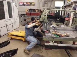 1971 Hemi Cuda - Shawn and Gordon test fitting panels