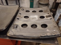 1935 Ford Coupe - Rebuit deck lid inner structure