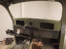 1935 Ford Coupe - Gordon fabricated dash extension