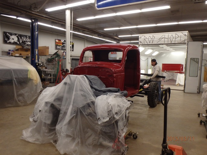 1947 Dodge Power Wagon - cab/bed/sheet metal prep and paint