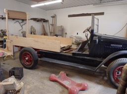 1926 IHC Huckster - wood body restoration