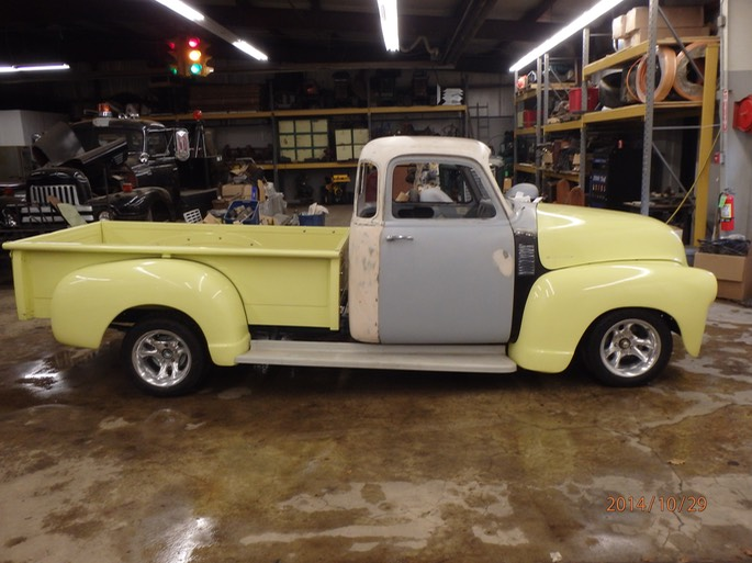 1954 chevy 5 window project truck 02 windfall rod shop for 1954 chevy 5 window