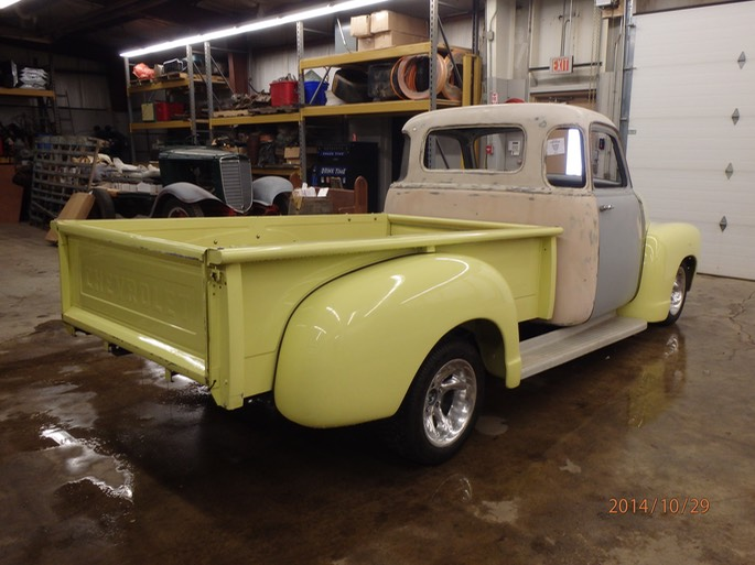 1954 chevy 5 window project truck 03 windfall rod shop for 1954 chevy 5 window truck